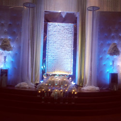 ECEP did the day of coordination for Z&N reception. A beautiful elegant setup