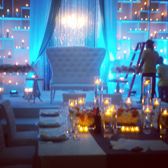 A Romantic Wedding Reception we did last year