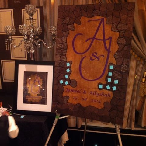 One our past events & the creative Guestbook puzzle for guests to sign