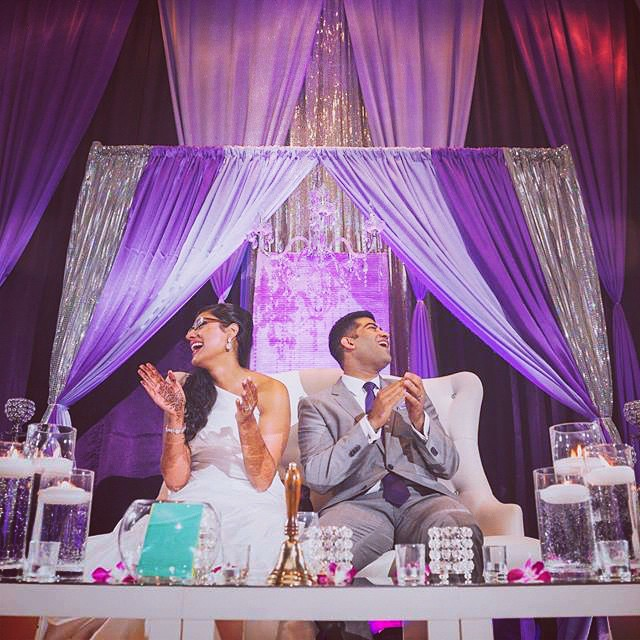 Bride & Groom having a blast at the reception. Elegant Concepts took care of the day of coordination