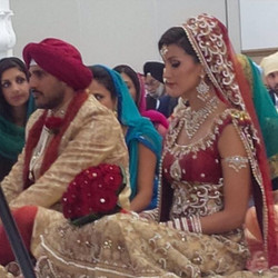 Our cute clients as they enter the ceremony hall & sit to start there journey together