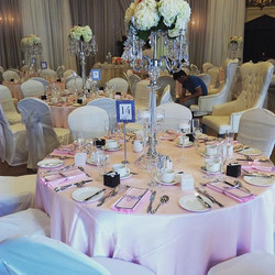 Our client loved her soft blush pinks