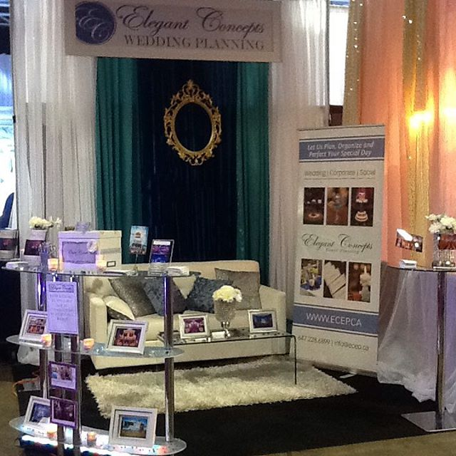 One of many wedding show booth setups
