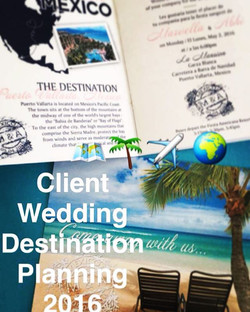 ECEP team is working _ the office on details for a special destination wedding