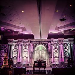 Lavish wedding reception Sam & Ram
