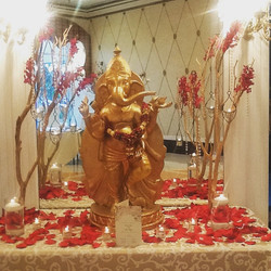Mandap table for today's ceremony Divya & Tyler. We love our fusion couple