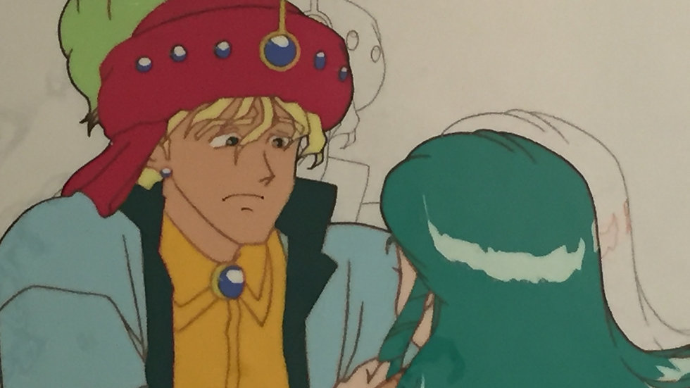Original Anime Cel from Time Travel Tondekeman featuring Prince Dandarn and Prin