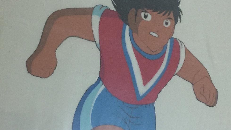 Original Vertical Anime Cel from Captain Tsubasa featuring Takeshi Sawada