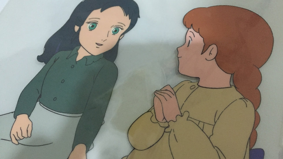 Original Anime Cel from Princess Sarah featuring Sarah Crewe & Ermengarde St. Jo
