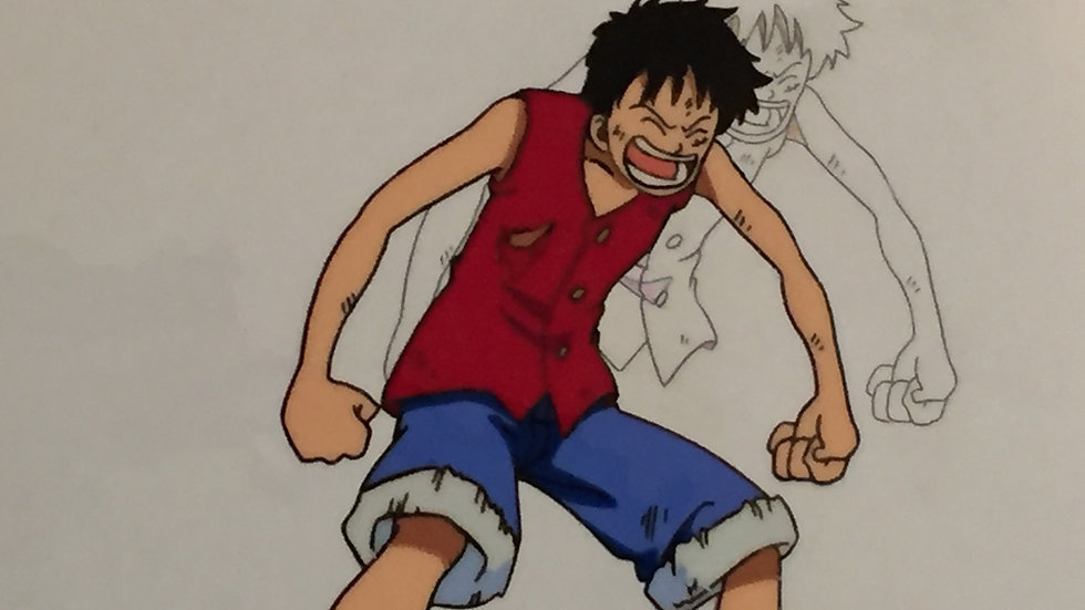 Original Anime Cel from One Piece (The Movie) featuring Monkey D. Luffy