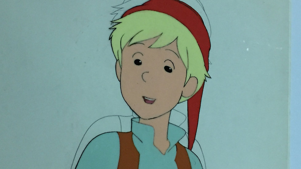 Original Anime Cel from The Wonderful Adventures of Nils featuring Nils