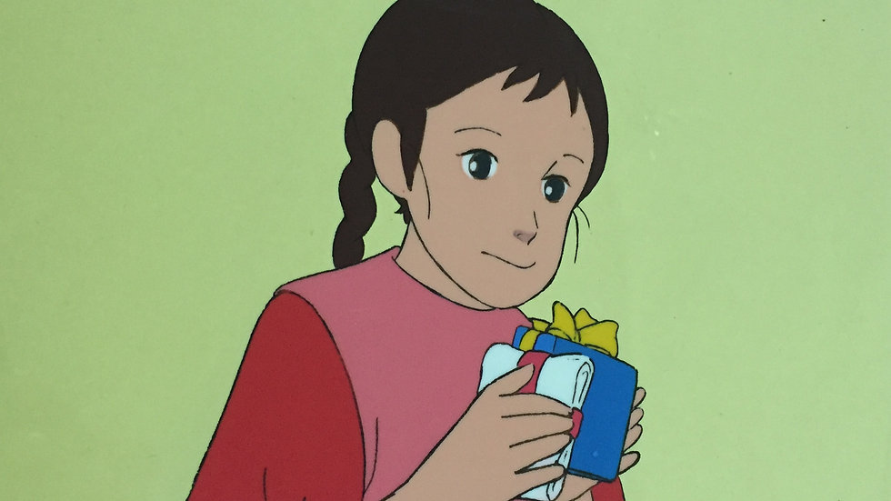 Original Anime Cel from Lucy of the Southern Rainbow featuring Lucy May checking