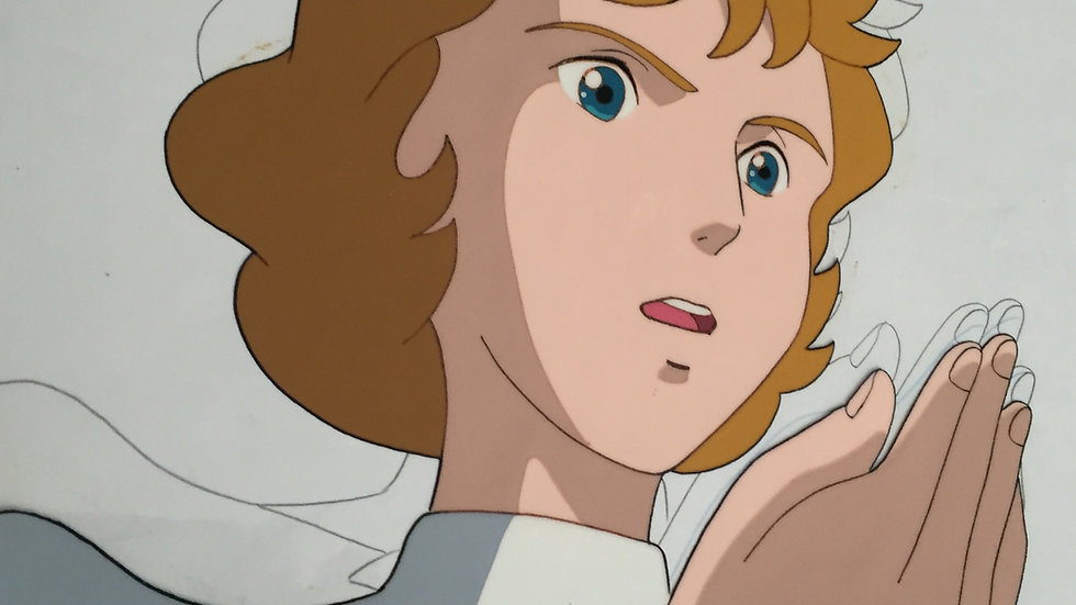 Original Anime Cel from Remi Nobody's Girl featuring Mrs. Milligan