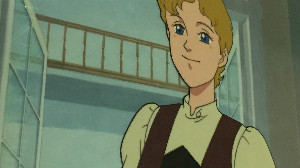 Original Anime Cel & Background from Trapp Family Story featuring Maria von Trap