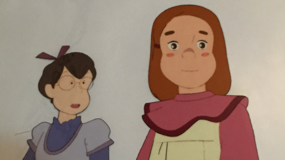 Original Anime Cel from The Swiss Family Robinson featuring Flone and her friend