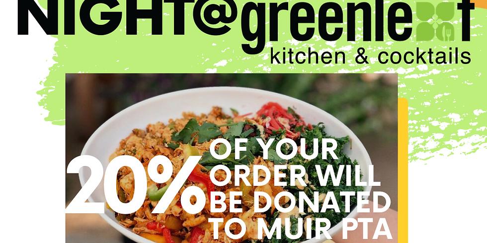 Muir PTA Fundraiser Night, Noche de recaudación de fondos de PTA de Muir!