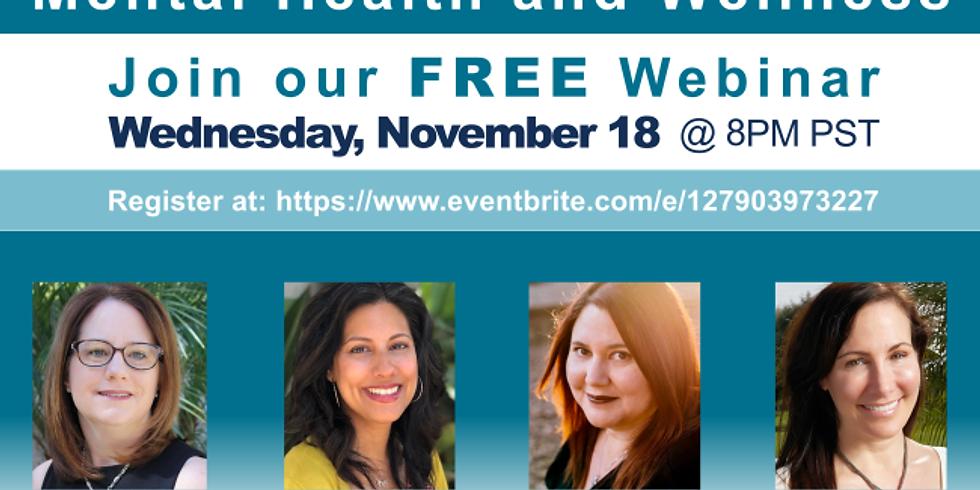 Free Mental Health and Wellness Webinar, Webinar Gratuito de Salud Mental y Bienestar