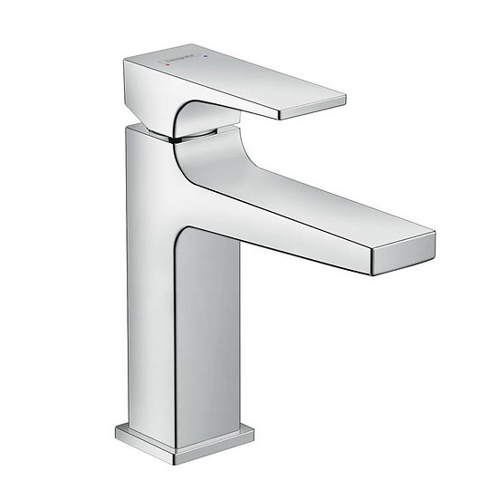 Metropol Single lever basin mixer 110 with lever handle and pop-up waste set