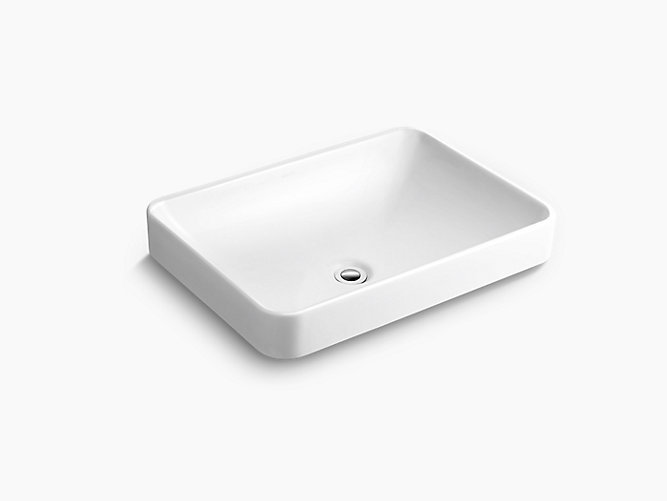 Forefront Rectangular Vessel Lavatory without Faucet Deck