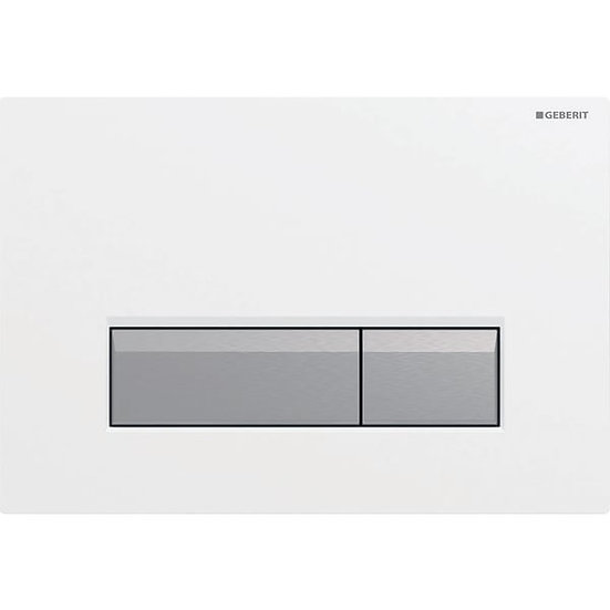 Geberit actuator plate Sigma40 for dual flush, with integrated odour extraction