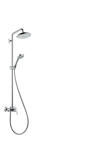 Croma Showerpipe 220 1jet with single lever mixer