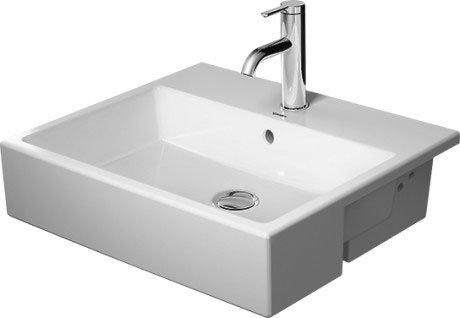 Vero Air Semi-recessed washbasin