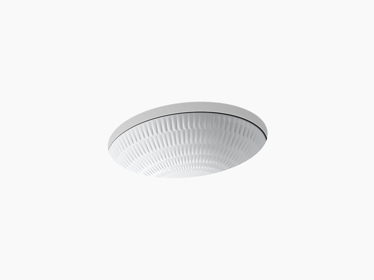 "Ricochet® 17"" x 14"" under-mount bathroom sink"