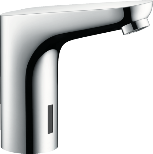 Focus Electronic basin mixer with temperature pre-adjustment mains connection