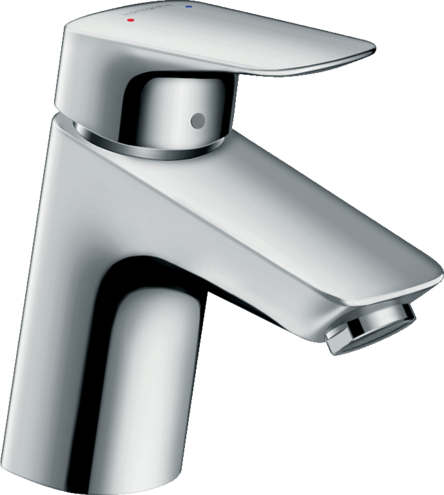 Logis Single lever basin mixer 70 with 2 flow rates with pop-up waste set