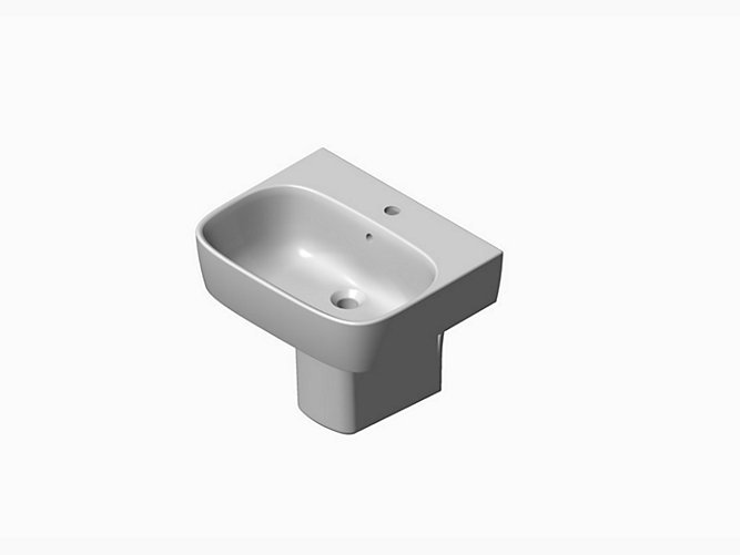 ModernLife Semi-pedestal Lavatory with single faucet hole