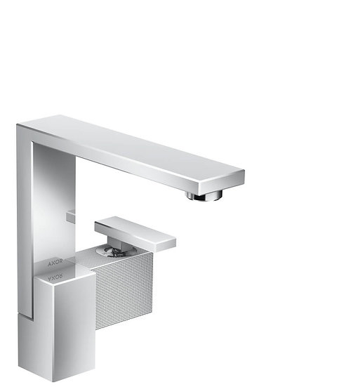AXOR Edge Single lever basin mixer 190 with push-open waste set - diamond cut