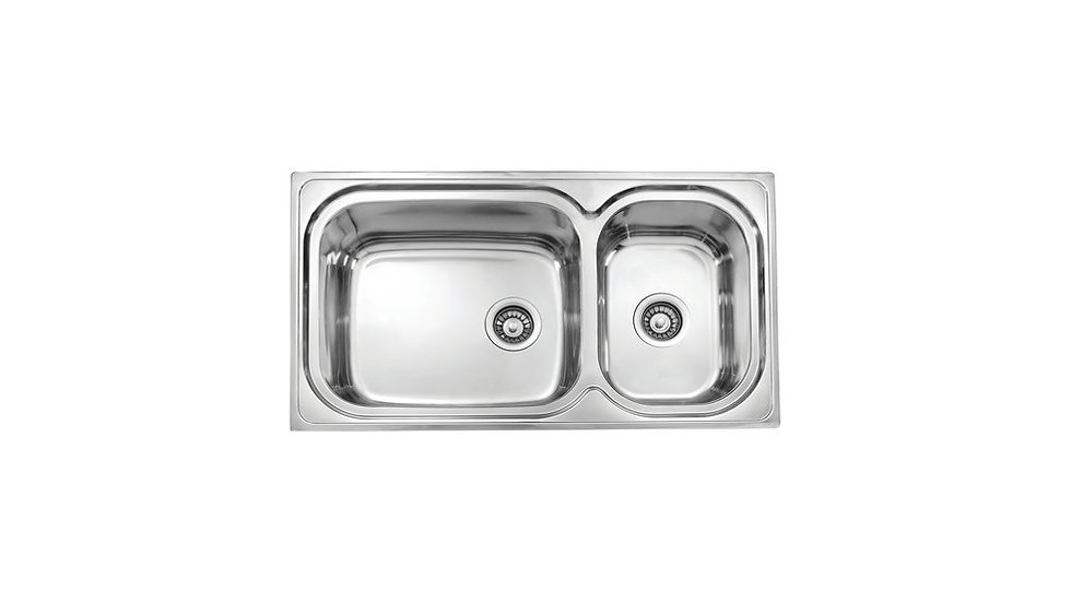 Topmount Stainless Steel Two bowls