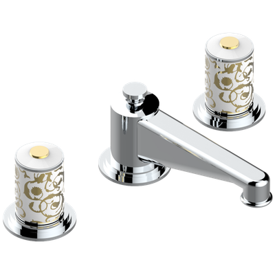 Rim mounted 3-hole basin mixer and pop-up waste - WRAS approved