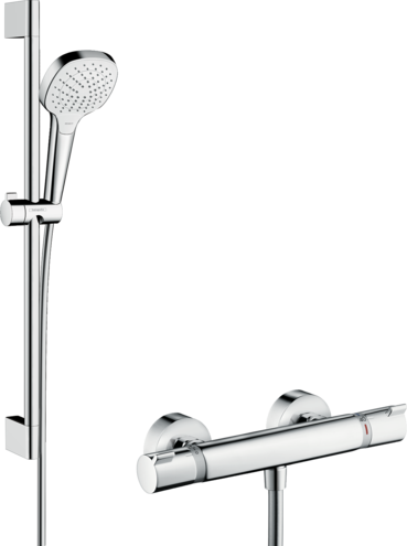Croma Select E Shower system for exposed installation Vario