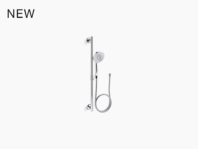 1.75 gpm multifunction handshower kit with Katalyst® air-induction technology
