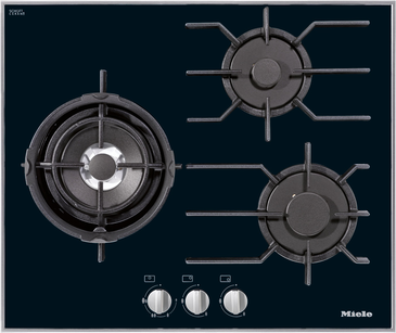 Gas cooktop with 3 burners incl. dual wok (KM 3014)