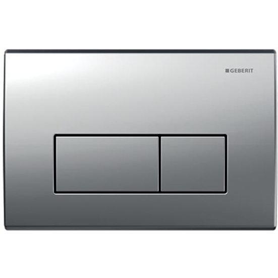 Geberit actuator plate Kappa50 for dual flush: matt chrome-plated