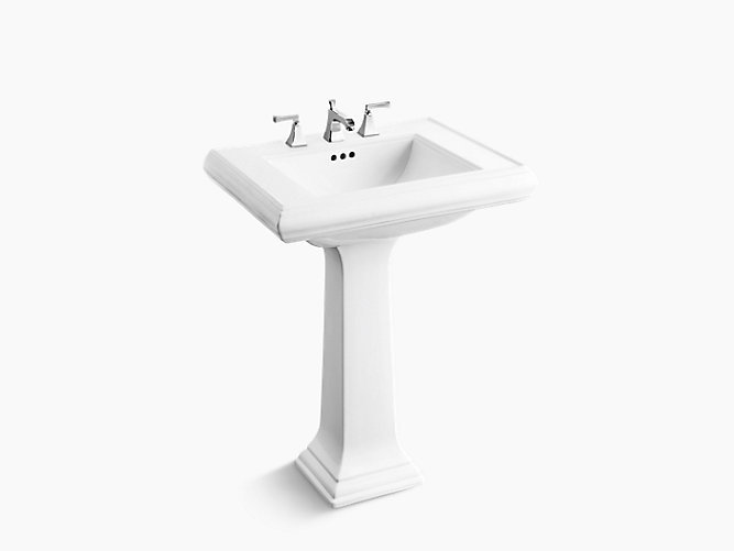 "Memoirs® Pedestal Lavatory with 8"" widespread faucet holes"