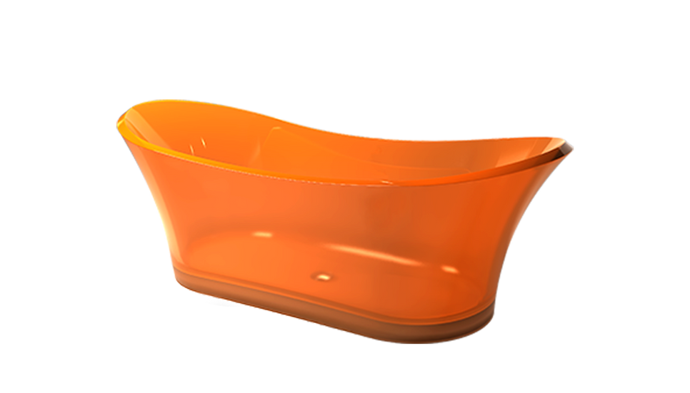 Bonbon - Free standing curved acrylic bath