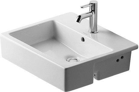 Vero Semi-recessed washbasin