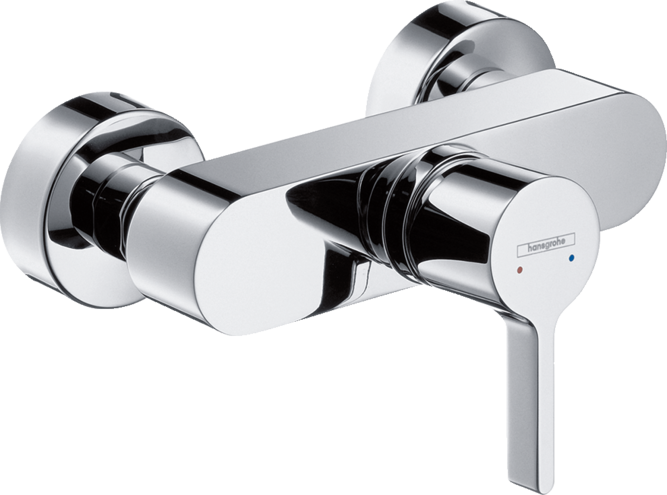 Metris S Single lever shower mixer for exposed installation