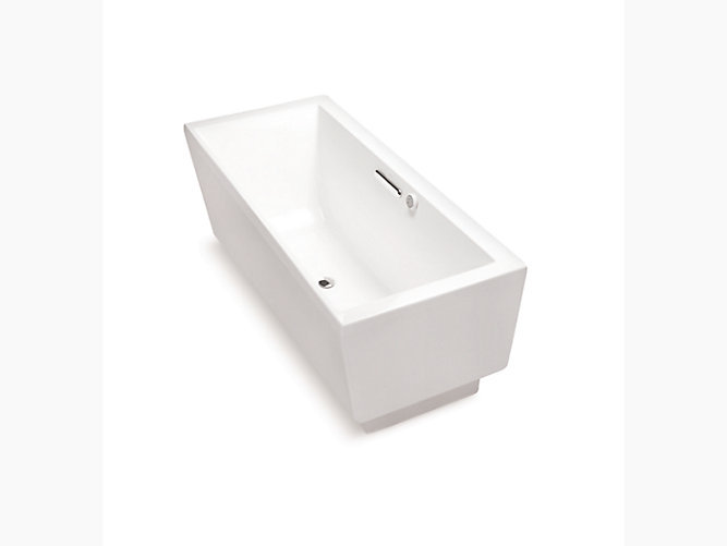 Evok  acrylic rectangular freestanding BubbleMassage™ bathtub