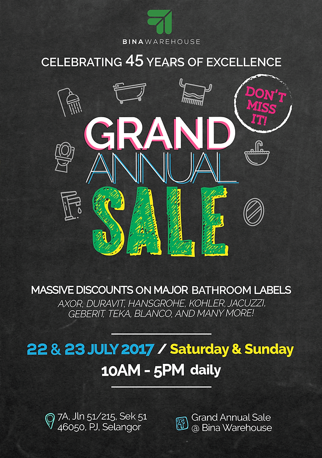 Announcing our GRAND ANNUAL SALE! | Bina Warehouse – Malaysia\'s ...