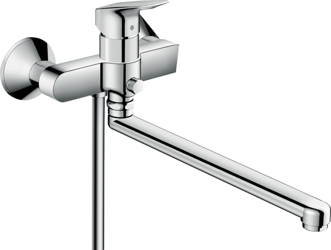Logis Single lever bath mixer with long spout
