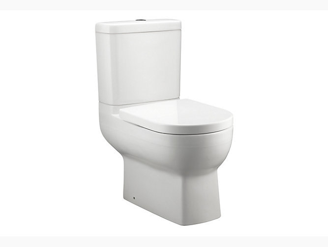 Odeon Up Close-Coupled Dual Flush 3/4.5L Washdown Toilet with S-trap