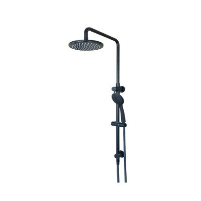 Round Combination Shower Rail, 200Mm Rose, Single Function Hand Shower