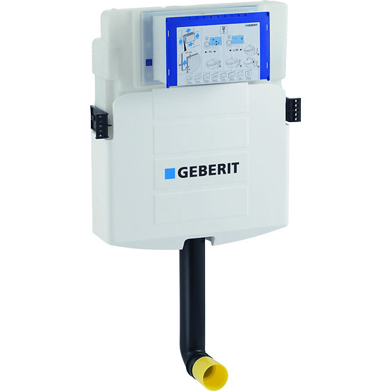 Geberit Sigma concealed cistern 12 cm, 6 / 3 litres, with front actuation