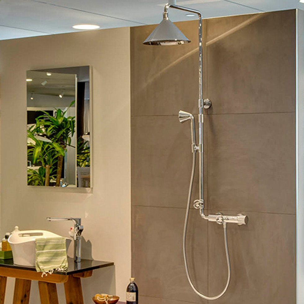 axor showerpipe by front