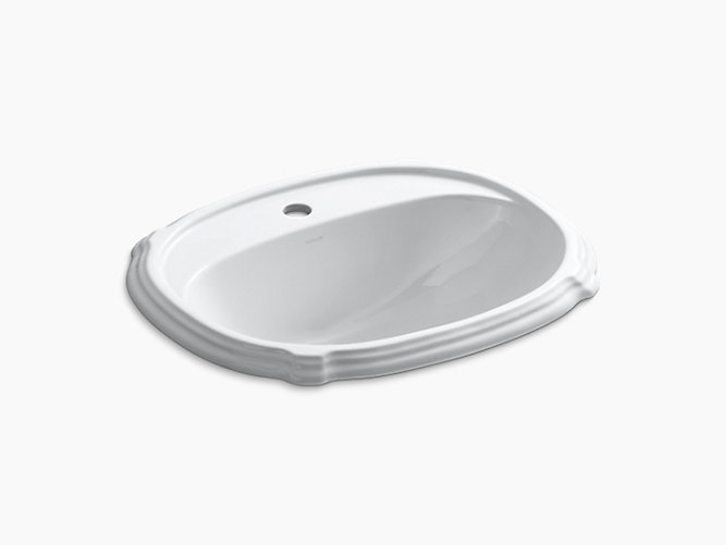 Portrait® Self-rimming Lavatory with single faucet hole