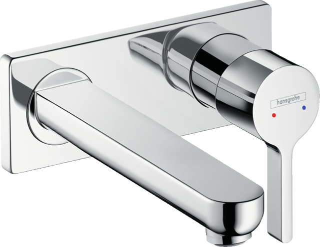 Metris S Single lever basin mixer for concealed installation wall-mounted